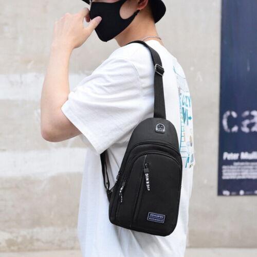 Men Women Chest Sling Shoulder Bag Cross Body Fanny Pack Sports Travel Backpack~