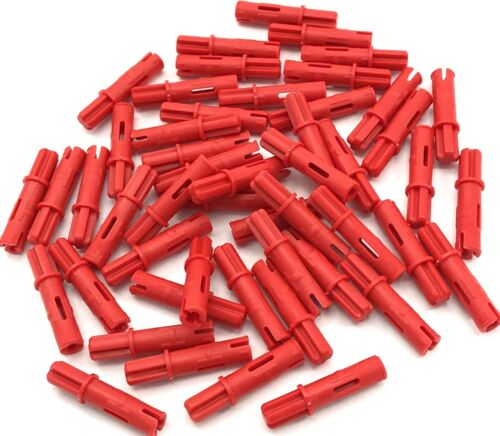 Lego New 50 Red Technic Axle Pin 3L Friction Ridges Lengthwise 1L Axle Parts