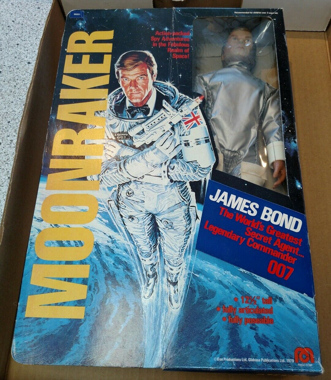 MEGO JAMES BOND MOONRAKER VINTAGE 1979 007 IN THE BOX