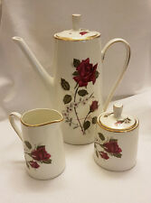 Vintage Walbrzych Polish Porcelain Coffee /Teapot, Creamer and Lided Sugar Bowl