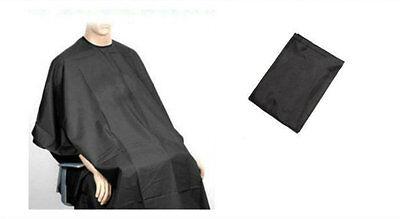 Adult Salon Hair Cut Hairdressing Barbers Cape Black Gown Protector 137cmx 96cm
