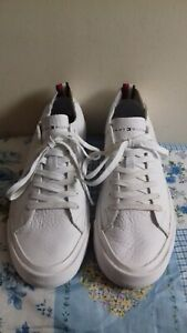 Men-039-s-Tommy-Hilfiger-White-Leather-Sneaker-Trainers-Size-UK-6-5-EU-40-VGC