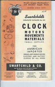 MG-024 - 1961 Swartchild's Catalog # 533 Clock Motors, Movements, Materials