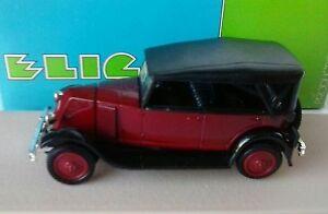 ELIGOR-1-43-AUTO-DIE-CAST-RENAULT-NN-1927-TORPEDO-CAPOTE-BORDEAUX-ART-1040