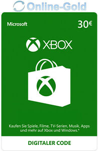 Xbox-Live-Card-30-Euro-Microsoft-Guthaben-ms-Xbox-360-Xbox-One-Live-Card