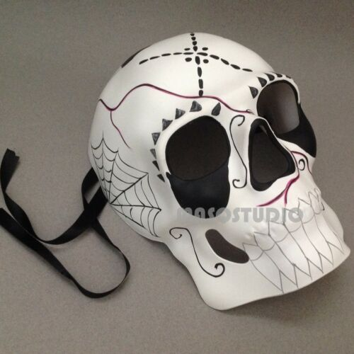 de Muertos Mask Black withe Sugar Skull Mask Masquerade Party Day of the Dead D