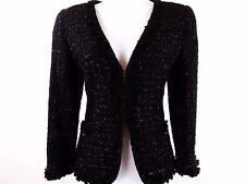 Carolina Herrera - black sparkly glitter boucle jacket blazer - size 4