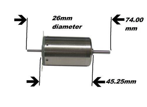 Portescap escap 26L2R 11 216E 148 8.93 PF Swiss Made DC Motor 26 mm Dual Shaft