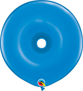 DONUT-BALLOONS-STANDARD-BLUE-25ct-QUALATEX-16-034-GEO-DONUTS-MODELLING-BALLOONS