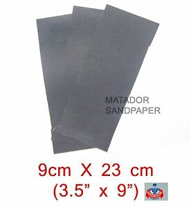 "MATADOR SANDPAPER Wet Dry 7 pc.3/"" X 5 1//2/""400//600//800//1000//1200//1500//2000 Grit"