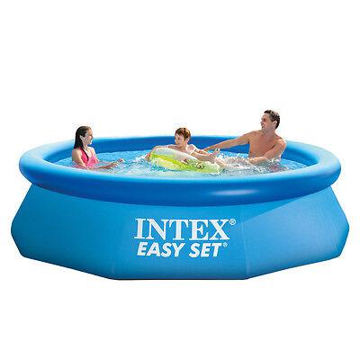 Intex Piscina fuoriterra anello gonfiabile 305x76cm tonda + pompa filtro 28122NP