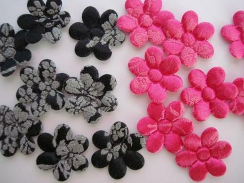 60 Plush Floral Flower Applique//trim//Daisy//Craft//Quilting//Sewing H463-Pick Color