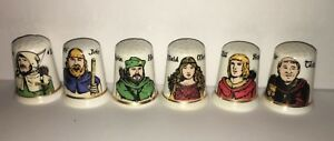 Collectable-ROBIN-HOOD-6-PIECE-THIMBLE-SET-AA37