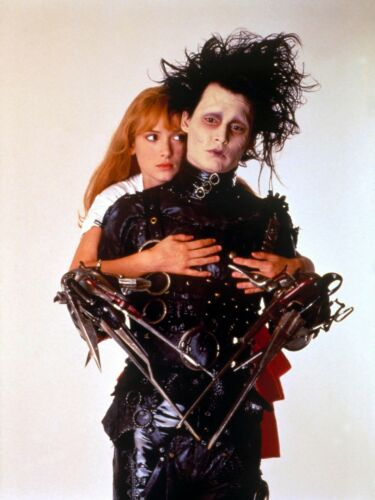 "EDWARD SCISSORHANDS Movie Silk Fabric POSTER 12.5/""x17/"" Tim Burton Johnny Depp"