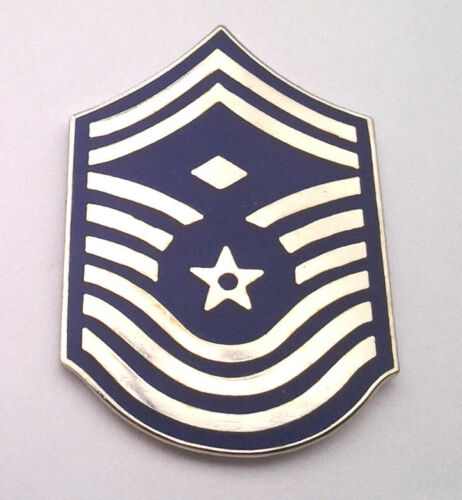 US AIR FORCE CHIEF MST SGT E9 WITH 1ST SGT DIAMOND RANK Pin BEFORE 1995 16303 HO