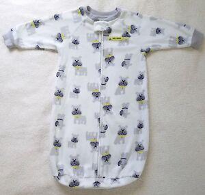 2e4f3447e Baby Boy s Sleep Sack~ White~ Polyester~ Size 0-9 Months~ Carters