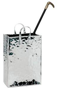 portaombrelli in acciaio inox a forma di borsetta   H  tot cm 59 SPECIALE NATALE