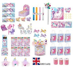 4 UNICORN FINGER PUPPETS PINK LOOT BAG FILLERS BIRTHDAY PARTY GIRLS FAVOURS