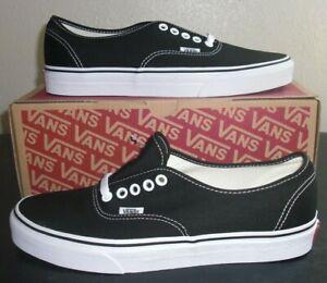 Vans Authentic Black/White Men's Size 3