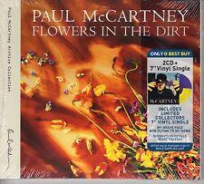 """PAUL McCARTNEY Flowers In The Dirt  2CD & Online Code for FREE Vinyl 7"""" Single"""