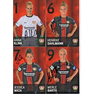 33 Autogrammkarten - Bayer Leverkusen  Frauen - 2018/2019 - Autogramme - 18/19