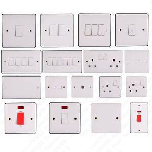 Electric Switch Plug white finish el...