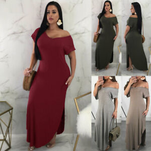 Details about US Women\'s Strapless Maxi Dress Plus Size Tube Top Long Skirt  Sundress Cover Up