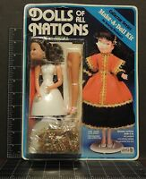 Vintage Dolls Of All Nations Miss China Make A Doll Kit Complete Craft 9