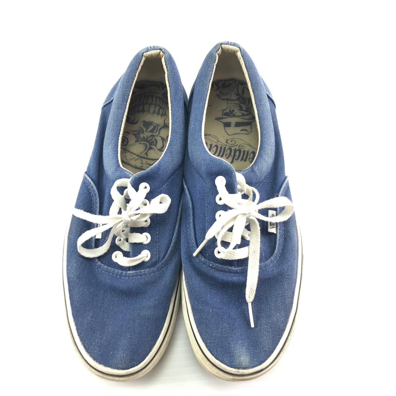 Vans Suicidal Tendencies Mens VTG Blue Lace Up Skate Sneakers Size 11.5