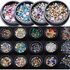 Nail Art 3D DIY Rose Rhinestones Jewelry Gems Mix Nails Art Decorations Glitter
