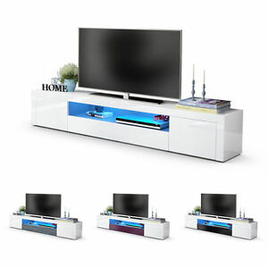 Image Is Loading White High Gloss Modern Tv Stand Unit Media