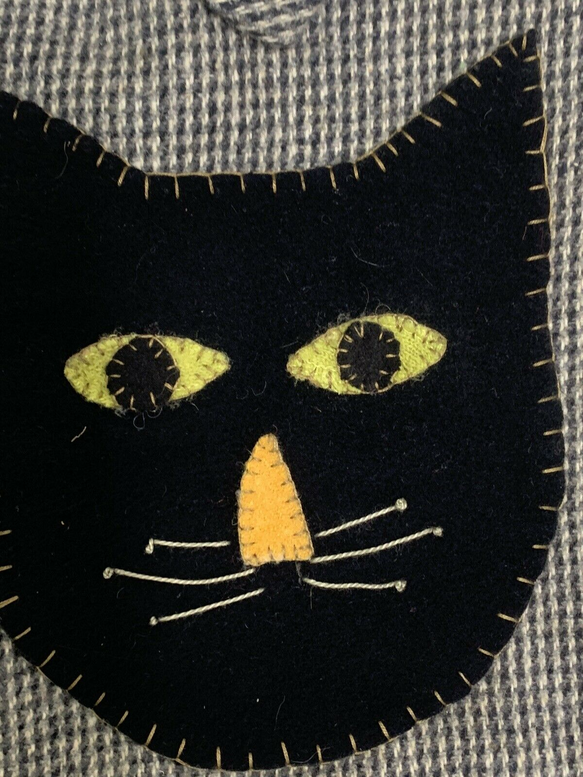 Wool Black Cat Bag Purse Shoulder Bag Handmade? U… - image 3