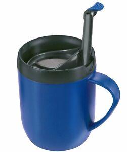 Zyliss Cafetiere Taza una taza de café caliente con paredes dobles Tapa Antisalpicaduras Azul Smart Cafe  </span>