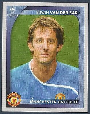 Panini 10 Edwin van der Sar Manchester United UEFA CL 2008//09