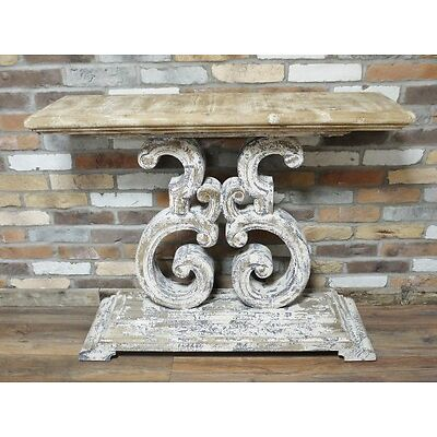 RUSTIC COUNTRY DISTRESSED ANTIQUE STYLE SIDEBOARD CONSOLE KITCHEN TABLE (DX4379)