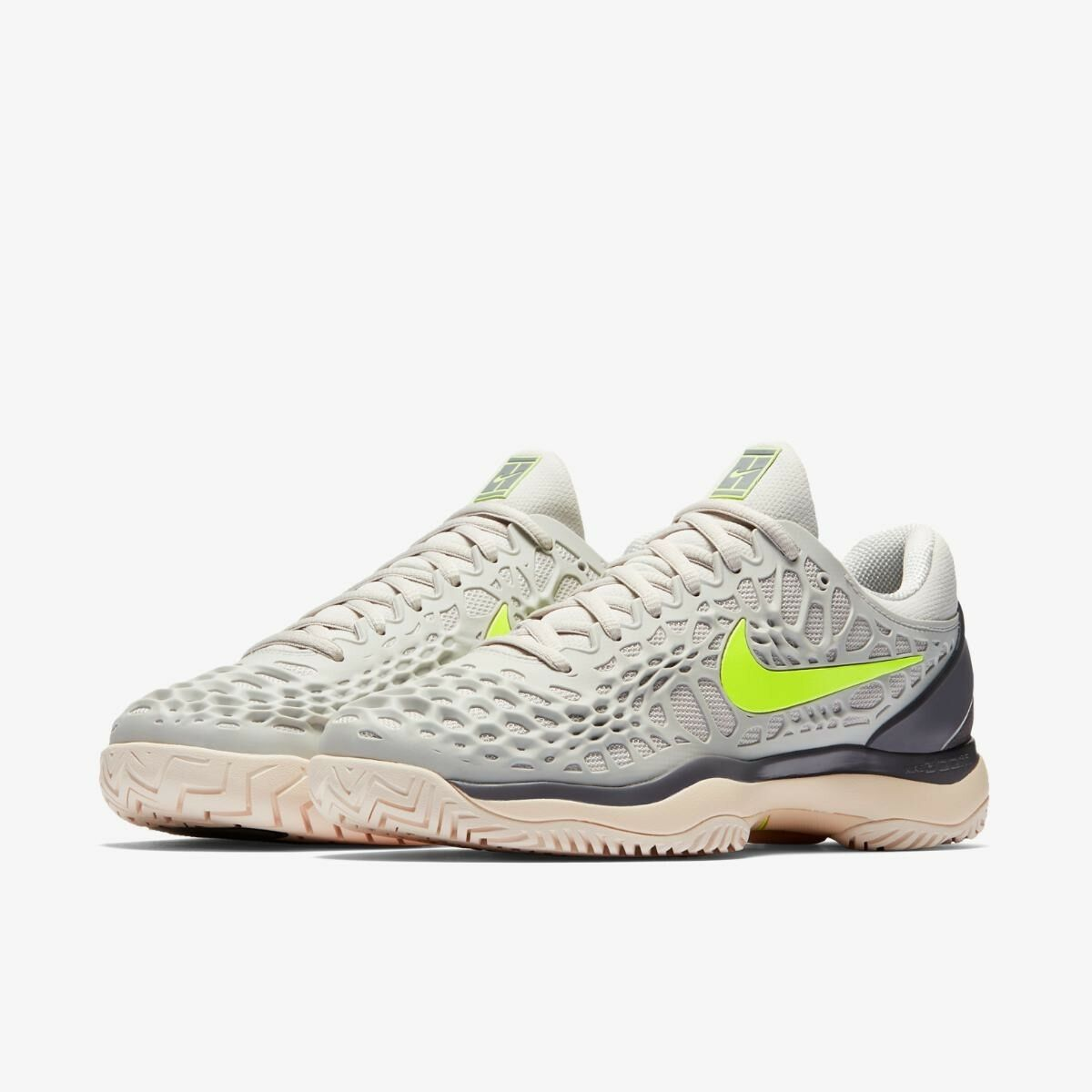 New Nike Air Zoom Cage 3 3 3 SZ 8 HC Tennis Shoes Vast Grey