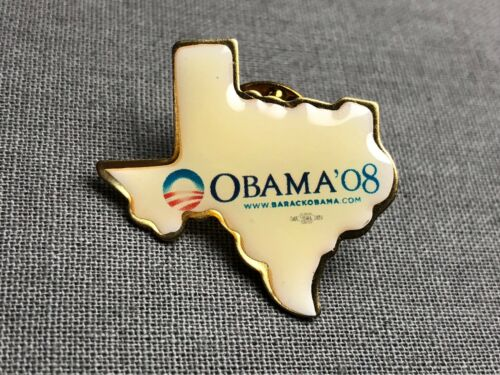President Barack Obama 2008 Campaign Texas State Lapel Pin /'08