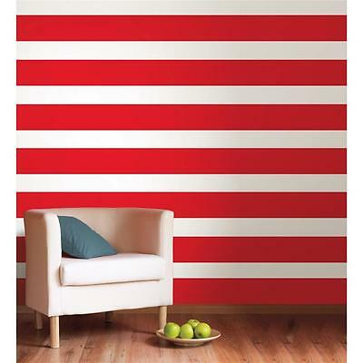 RED HOT 16' Wall Border Wallpops Stripe Wallpaper Removable Sticker Room Decor