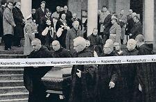 Beuron im Donautal - Beisetzung Erabt Reetz - um 1965 oder früher     J 28-9