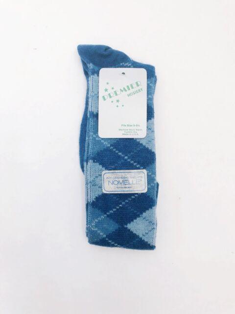 424f7b1cc vintage NOS premier hosiery knee high socks argyle womens size 8-9.5 75%  orlon