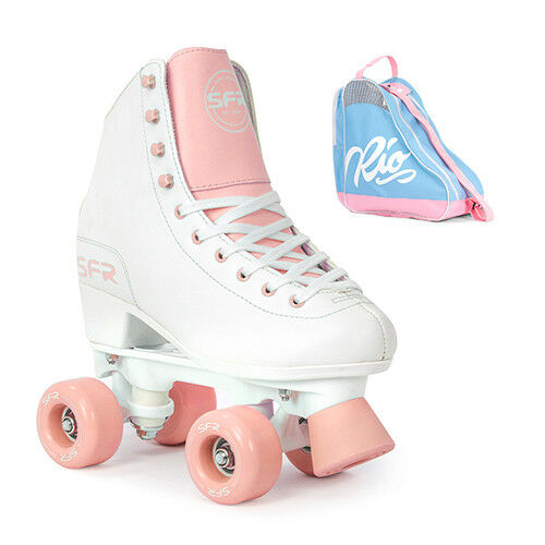 SFR Figure Quad Roller S  s Girl's Women's White Pink - Optional S  Bag  the lowest price