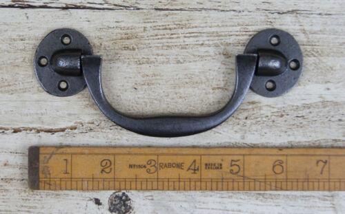 screws Single Cast Antique Iron Chest Box Lifting Locking Handle 3 Hole 155mm