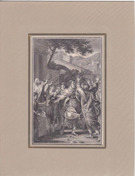 """""""die Lystrier Wollen Den Paulus Opfern"""" Kst. V. Schuler Bei Herder 1790 Verkaufspreis"""