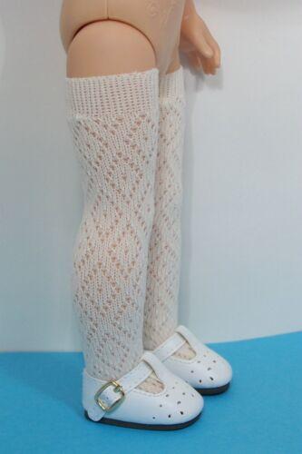 "CREAM Thi-Hi Stocking Socks For 14/"" American Girl Wellie Wisher Wishers Debs"