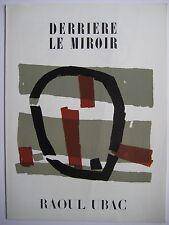 UBAC RAOUL DERRIÈRE LE MIROIR 1950 DLM N34 COMPLET 3 LITHOGRAPHIES 3 LITHOGRAPHS