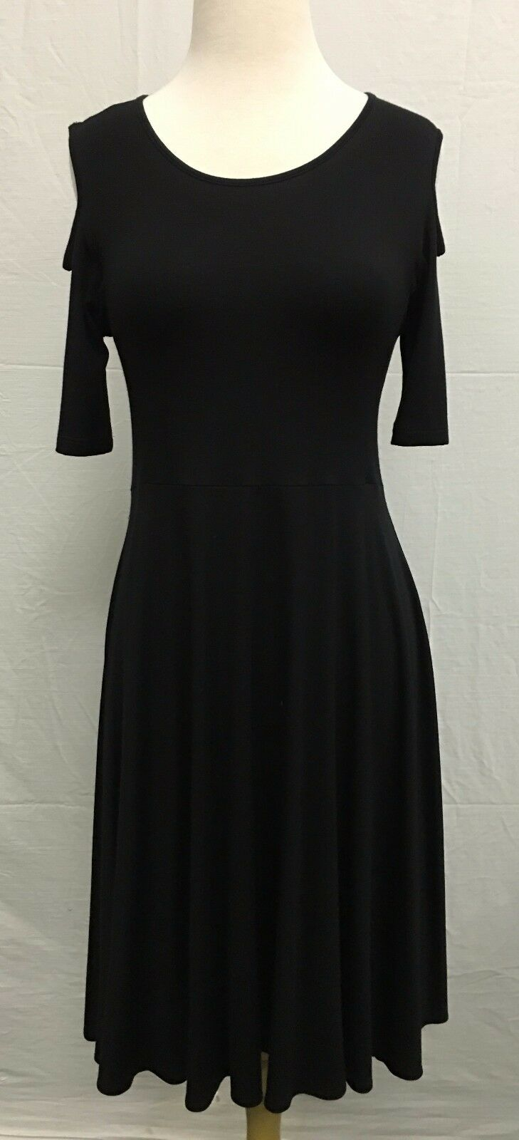 Comfy USA Woherren Nicole Long Dress Modal Cold Shoulder Style M410 NEW w Tags