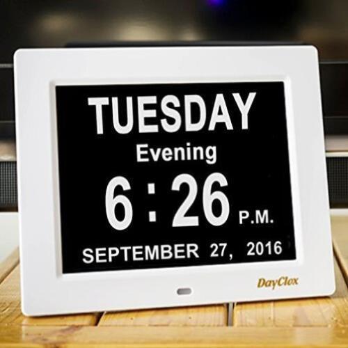Dayclox Updated Original Memory Loss Digital Calendar Day Clock/Dementia New