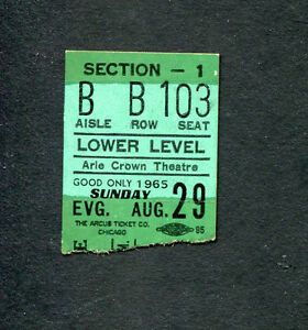 1965-Beach-Boys-Shadows-of-Knight-concert-ticket-stub-Aire-Crown-Chicago-RARE