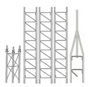 Details about Rohn 25G 40' Tower with Hinged Base (Fold Over Base)