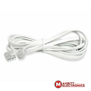 2m-RJ11-US-ADSL-Broadband-Phone-Internet-Router-Modem-Cable-WHITE